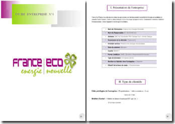 Dossier de communication sur France Eco Énergie Nouvelle