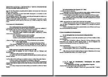 Emancipation des peuples : la décolonisation et tentative d'organisation des Etats nouvellement indépendant (1945-1975)