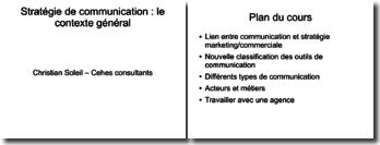 Stratégie de communication : le contexte général