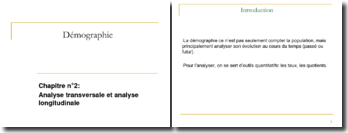 Démographie : Analyse transversale et analyse longitudinale