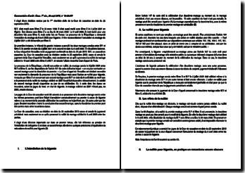 Commentaire d'arrêt de la Première Chambre civile de la Cour de cassation du 25 septembre 2013 : la nullité du mariage pour bigamie