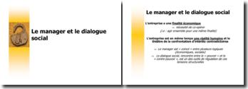 Le manager et le dialogue social