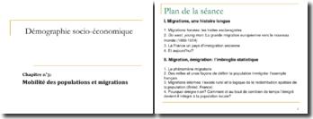 Démographie socio-économique : Mobilité des populations et migrations