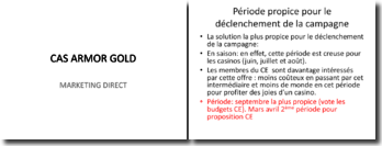 Marketing direct pour Armor Gold
