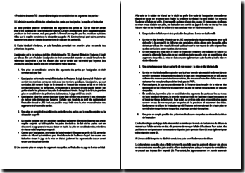 Procédure devant le TGI : les conditions de prise en considération des arguments des parties