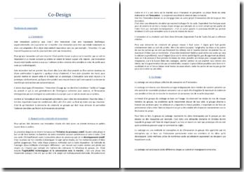 Le co-design pour l'innovation