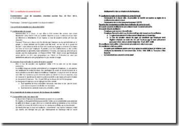 Commentaire d'arrêt de la Chambre sociale de la Cour de cassation du 20 février 2013 : la clause de mobilité