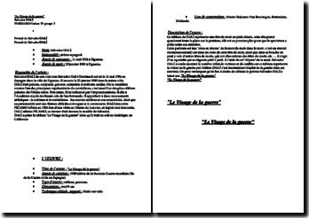 Description de l'oeuvre Le Visage de la guerre de Salvador DALÍ