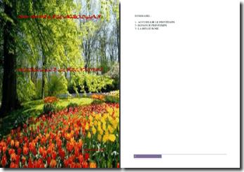 Recueil de poésies : Accueillir le printemps