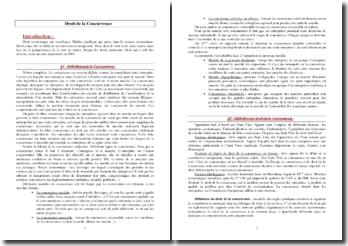 Droit de la concurrence : pratiques anti-concurentielles et contrôle des concentrations d'entreprises