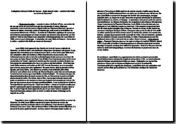 L'adaptation de Louis Malle de l'oeuvre « Zazie dans le métro » semble-t-elle fidèle au roman de Queneau?
