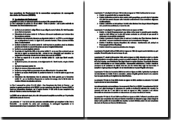 Les caractères de l'instrument de la convention européenne de sauvegarde des droits de l'homme (CESDH).