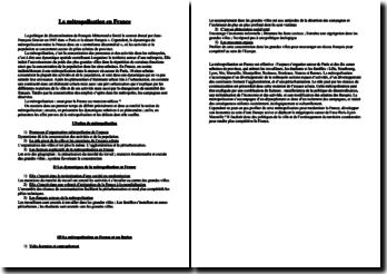 dissertation sur la metropolisation en france