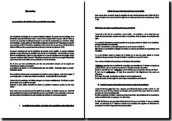 La procédure de révision de la Constitution française