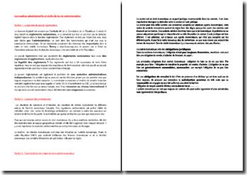 Les cadres administratifs et civils de la vie administrative