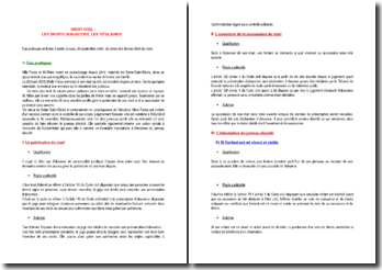Etude d'un cas pratique et de deux arrêts (c.cass, 20 septembre 2005, civ.2ème et 6 février 2008 civ.1ère)