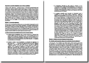 Aspect de la procédure législative sous la Ve République