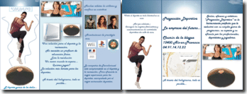 Brochure pour un club de sport (en espagnol)