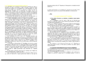 La Ve République est-elle un parlementarisme Orléaniste ?