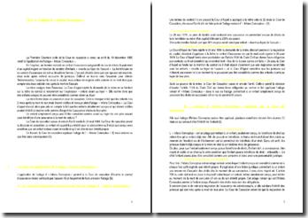 Commentaire d'arrêt de la Première Chambre civile de la Cour de Cassation du 10 décembre 1985 : Infans Conceptus