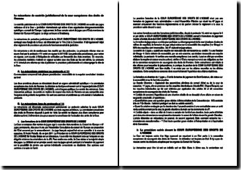 Le mécanisme de contrôle juridictionnel de la Cour européenne des droits de l'homme