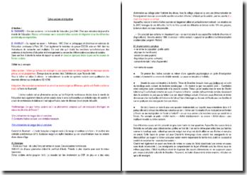 Échec scolaire et intégration - D'après l'étude de 2 textes (M.Baumard et B.Charlot)