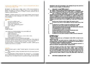 Un projet pour... éduquer au développement durable - Gérard De Vacchi et Julien Pellegrino