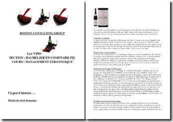 Management stratégique : les vins