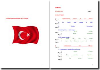 La frontière européenne de la Turquie