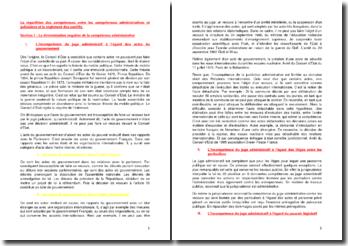La répartition des compétences entre les compétences administratives et judiciaires et le règlement des conflits