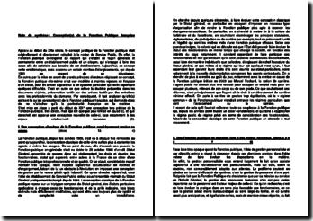 Conception(s) de la Fonction Publique française
