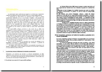 Comparez les articles 67 et 68 avant et après la révision constitutionnelle du 23 février 2007