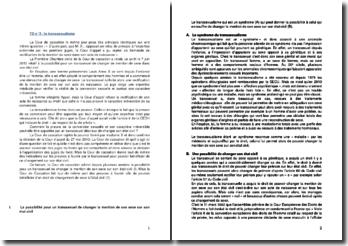 Commentaire d'arrêt de la Première Chambre civile de la Cour de cassation du 7 juin 2012 : le transsexualisme
