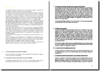 Commentaire d'arrêt de la Première Chambre civile de la Cour de cassation du 16 septembre 2010 : le respect de la dignité d'un cadavre