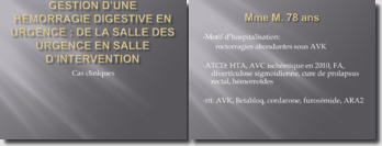 Gestion d'une hémorragie digestive en urgence : de la salle des urgences en salle d'intervention