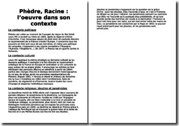 Phèdre, Racine : l'oeuvre dans son contexte