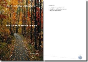 Recueil de poésies : La vie est ce qu'on en fait