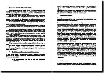 Commentaire d'arrêt de la Première Chambre civile de la Cour de cassation du 18 septembre 2008 : le droit à agir en justice
