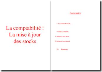 La comptabilité : la mise à jour des stocks