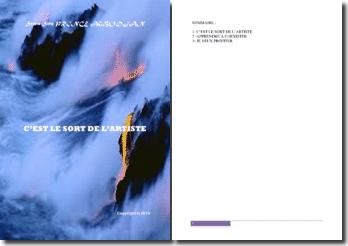 Recueil de poésies : C'est le sort de l'artiste