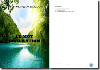 Recueil de poésies : Le mot civilisation
