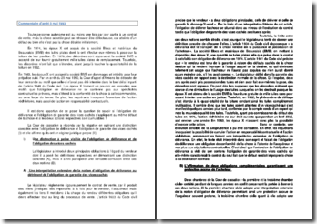 Commentaire d'arrêt de la Cour de cassation du 5 mai 1993 : le régime de l'obligation de délivrance et de l'obligation de garantie des vices cachés