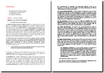 L'organisation administrative française et le principe de légalité