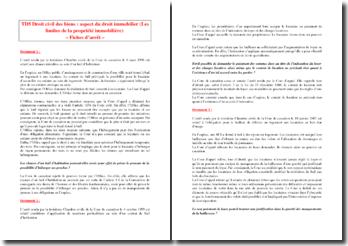 Droit civil des biens : aspect du droit immobilier (Les limites de la propriété immobilière)