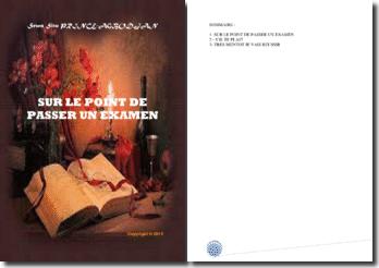 Recueil de poésies : Sur le point de passer un examen