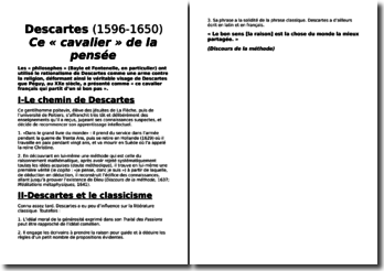 Descartes (1596-1650) : Ce « cavalier » de la pensée