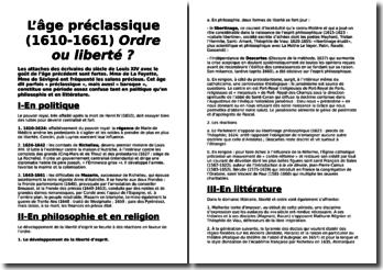 L'âge préclassique (1610-1661) : Ordre ou liberté ?