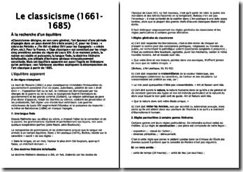 Le classicisme (1661-1685) : A la recherche d'un équilibre