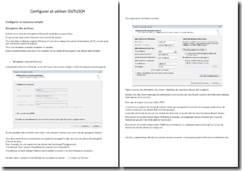 Configurer et utiliser Outlook