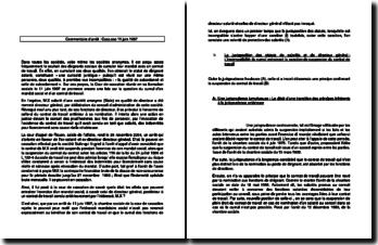Commentaire d'arrêt de la Chambre sociale de la Cour de cassation du 11 juin 1997 : la juxtaposition des statuts